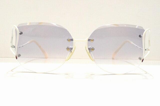 Nikon FIORE(フィオーレ)F9828 Wヴィンテージサングラス新品ファセットめがね 眼鏡 サングラスふちなしダイヤカット