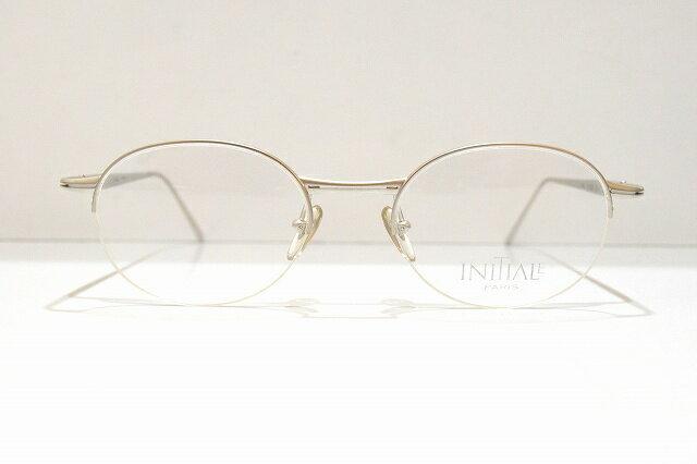 INITIALE(イニシアル)103 col.1ヴィンテージメガネフレーム新品めがね 眼鏡 サングラス高級チタンブルーライト