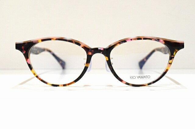 KIO YAMATO(キオヤマト)KP-J25 col.03メガネフレーム新品めがね 眼鏡 サングラスべっ甲柄O&Xクラシックネオ伊達可愛い