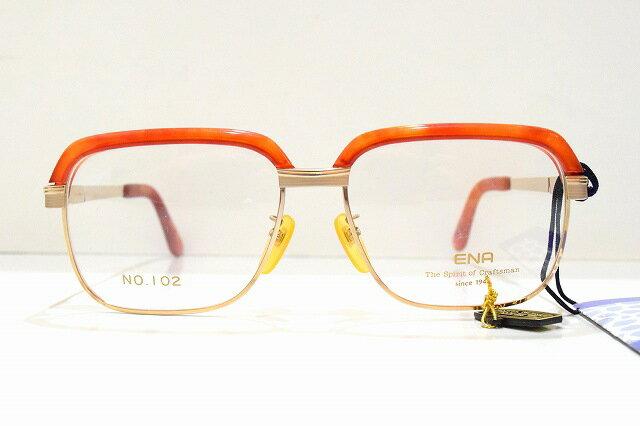 ENA(エナ)No.102 デッドストックヴィンテージメガネフレーム新品べっ甲ロイドめがね 眼鏡 サングラスサーモント