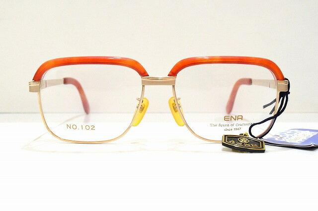 ENA(エナ)No.102 col.1デッドストックヴィンテージメガネフレーム新品めがね 眼鏡 サングラス恵那眼鏡べっ甲ロイド