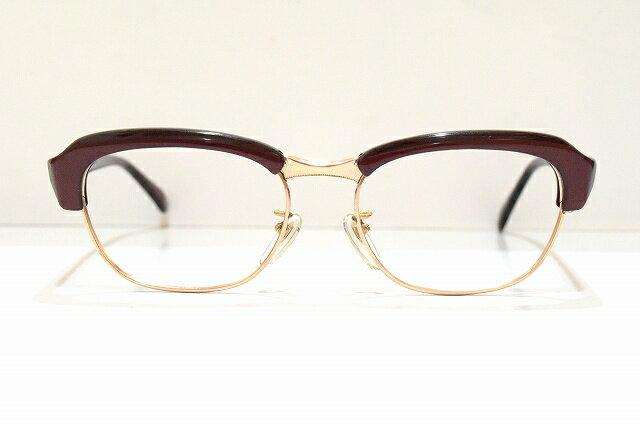 WEST FENCE 5020K 14KGFヴィンテージメガネフレーム新品金張りめがね 眼鏡 サングラスブローセルロイドクラシック