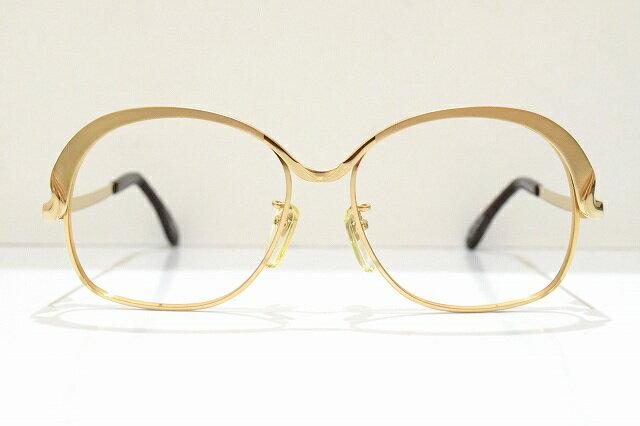 MARWITZ(マルヴィッツ)6076 B07ヴィンテージメガネフレーム新品めがね 眼鏡 サングラス西ドイツ金ゴールド