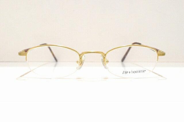 Zip+homme(ジップオム)Z-0047 col.1メガネフレーム新品めがね 眼鏡 サングラスヴィンテージクラシック樽型