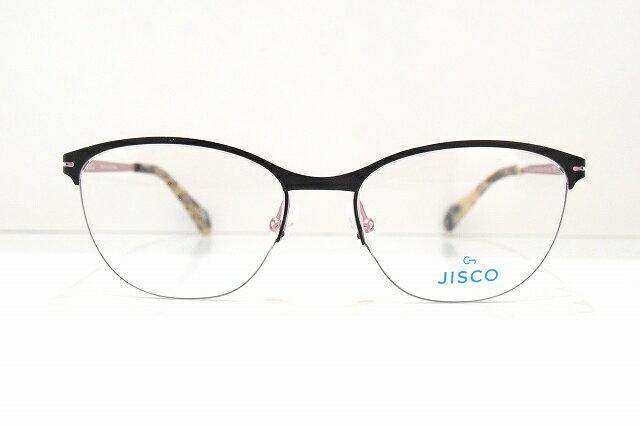 JISCO(ジスコ)YIPPY BKメガネフレーム新品クロピンクめがね 眼鏡 サングラスハーフリムブローメンズレディース