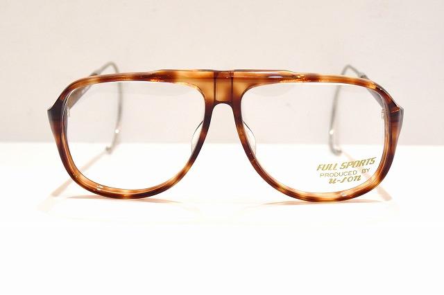 FULL SPORTS 5002 col.YHヴィンテージメガネフレーム新品めがね眼鏡サングラス縄手ティアドロップメンズレディース