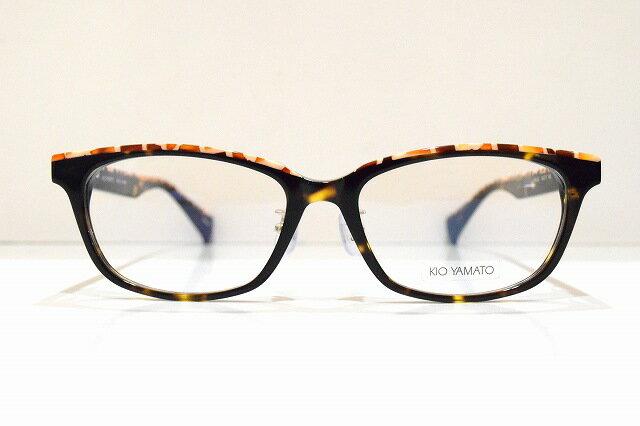 KIO YAMATO(キオヤマト)KP-J26 04メガネフレーム新品めがね 眼鏡 サングラスキリン柄コンサバ芸能人ブランド