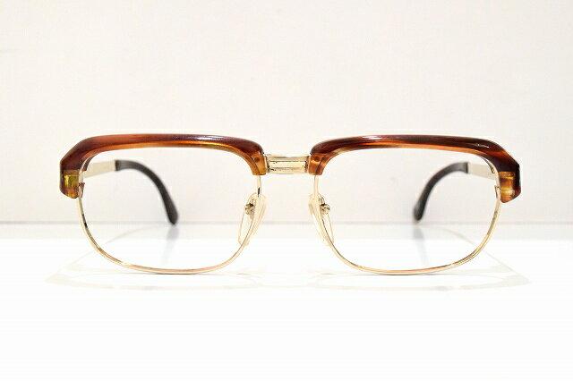Prince(プリンス)632 col.4ヴィンテージメガネフレーム新品金張りめがね 鯖江眼鏡 サングラス職人手作りブロー