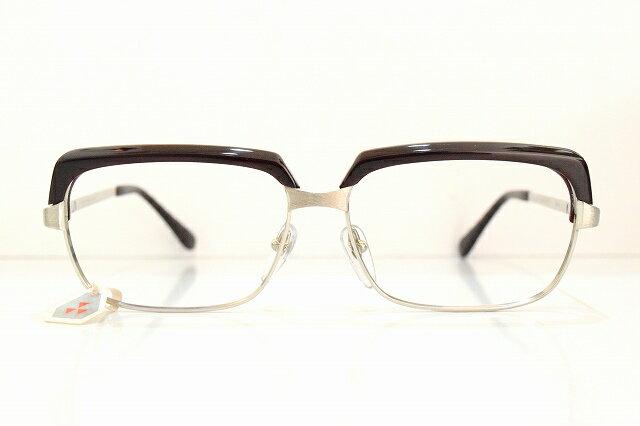 Clover(クローバー)SMG-204 XIP col.BRメガネフレーム新品ヴィンテージブローサンプラチナめがね鯖江眼鏡 サングラス