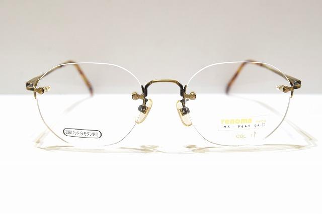 renoma レノマ 25-9641 配送員設置送料無料 買い取り col.1ヴィンテージメガネフレーム新品めがね眼鏡サングラスメンズレディースふちなしアンティーク