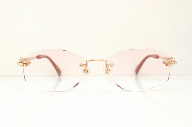 PURELE(ピュアレ)RH-822 59メガネフレーム新品ダイヤカットふちなしめがね鯖江眼鏡 サングラス甲府婦人レディース