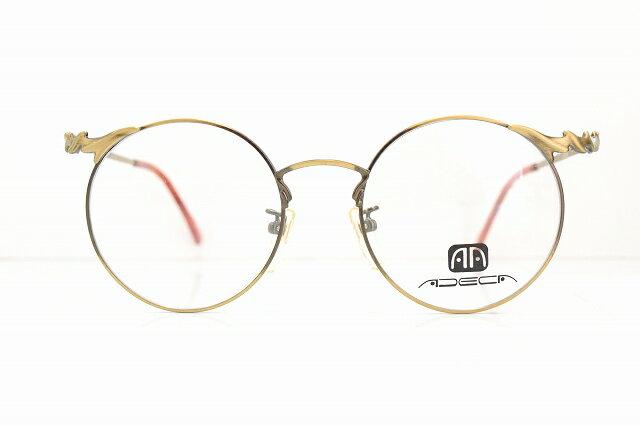 ADECA A-312 col.ATGヴィンテージメガネフレーム新品ラウンドめがね眼鏡サングラスアンティークデコレーション