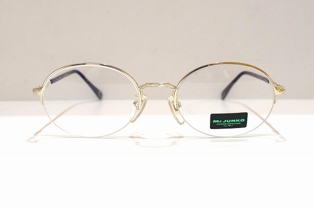 Mr.JUNKO(ミスタージュンコ)241 col.3ヴィンテージメガネフレーム新品めがね眼鏡サングラス彫金メンズレディース