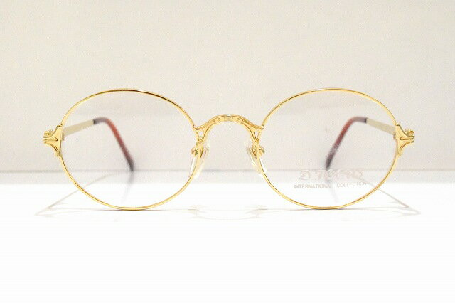 D.FOCUS 008 col.L.GPヴィンテージメガネフレーム新品彫金日本製鯖江ラウンドめがね眼鏡サングラスクラシック