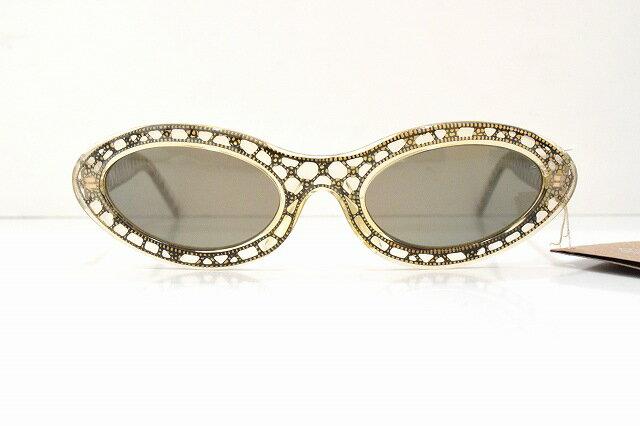 Rosana(ロッサーナ )R-2 col.3ビンテージサングラス新品BADAバダめがね眼鏡メガネフレーム彫金フォックスおしゃれ