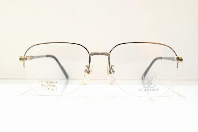 PLAYBOY(プレイボーイ)PB-347S col.3ヴィンテージメガネフレーム新品めがね眼鏡サングラス高級バネ蝶番紳士用