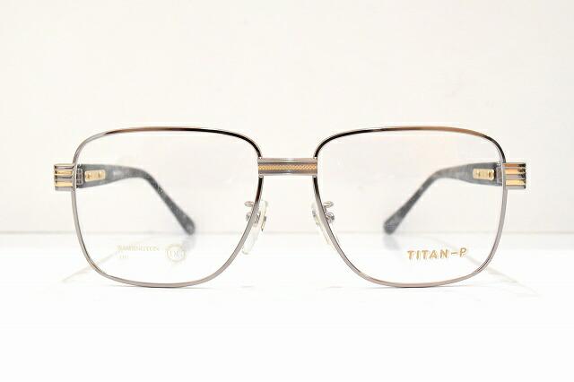 WASHINGTON D.C 3012 col.3ヴィンテージメガネフレーム新品めがね眼鏡サングラス紳士用大き目ビッグサイズメッキ