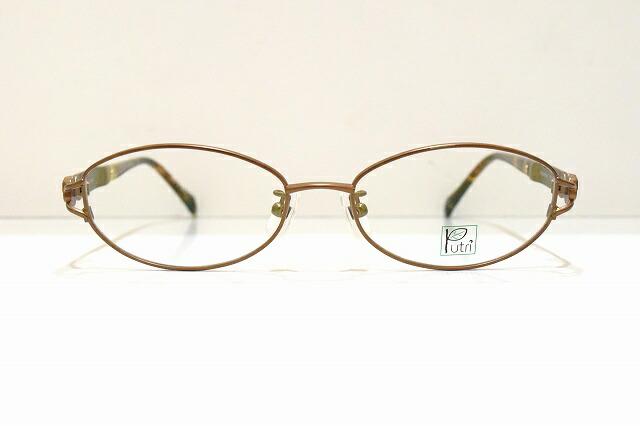 Putri(プトゥリ)EP-834 col.1メガネフレーム新品めがね眼鏡サングラス薔薇バラべっ甲柄デコレーションレディース