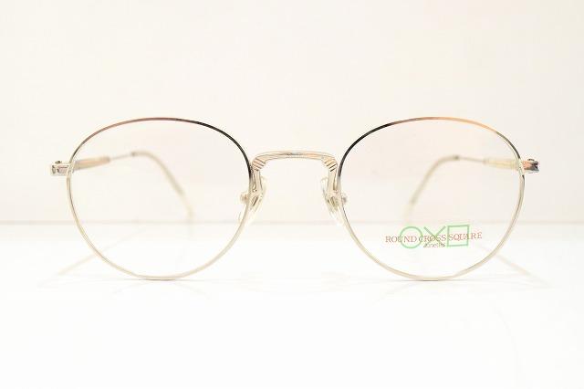 ROUND CROSS SQUARE(ラウンドクロススクエアー)92-015 col.4メガネフレーム新品めがね眼鏡サングラスヴィンテージ