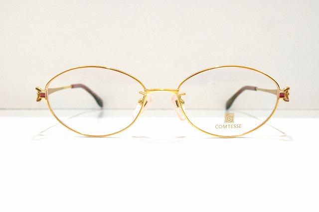 COMTESSE(コンテス)CM-621 col.18メガネフレーム新品めがね眼鏡サングラス高級レディース婦人用書生用金張り鯖江