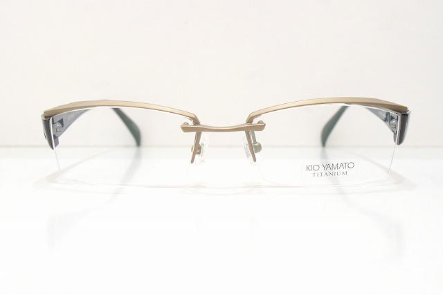 KIO YAMATO(キオヤマト)KT-317A col.46Cメガネフレーム新品めがね眼鏡サングラスワンポイントちょい悪紳士ビジネススーツ