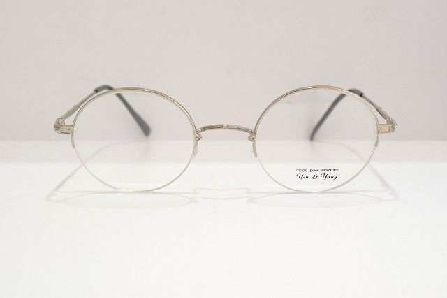 Yin & Yang(インヤン)YY-413 col.2一山式ヴィンテージメガネフレーム新品めがね眼鏡サングラスクラシックラウンド丸型