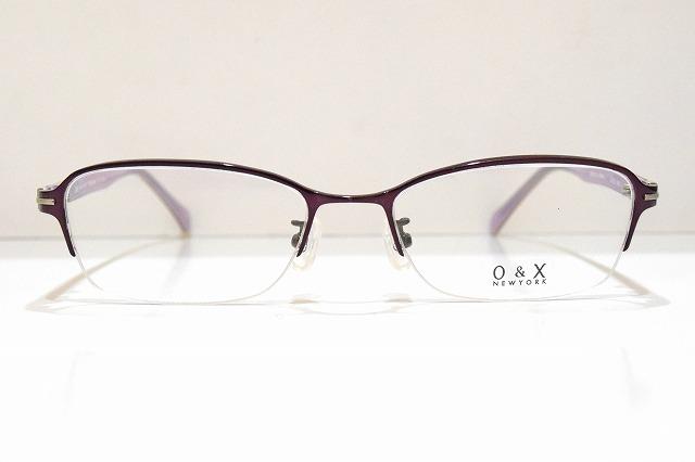 O&X NEWYORKOT-273A col.08メガネフレーム新品めがね眼鏡サングラスチタン鯖江メンズレディース紳士婦人男性女性ブランド