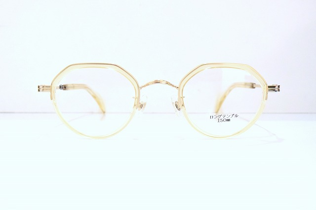 G4 Old & New 1661 col.G/Kメガネフレーム新品めがね眼鏡サングラスボストン型限定琥珀色クラシックセルロイド鯖江