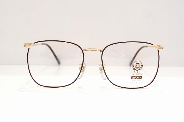BOSTON(ボストン)BT-113 col.1ヴィンテージメガネフレーム新品めがね眼鏡サングラス七宝メンズレディースクラシック可愛い