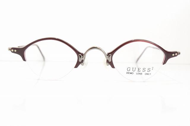 GUESS(ゲス)GU4072 col.RDヴィンテージメガネフレーム新品めがね眼鏡サングラスクラシック軽量メンズレディース