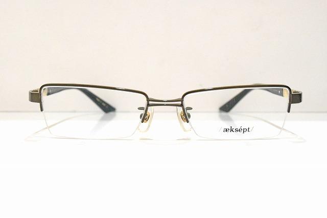 aeksept(アクセプト)AP-2008 col.4ヴィンテージメガネフレーム新品めがね眼鏡サングラスちょい悪ビジネス紳士メンズスーツ