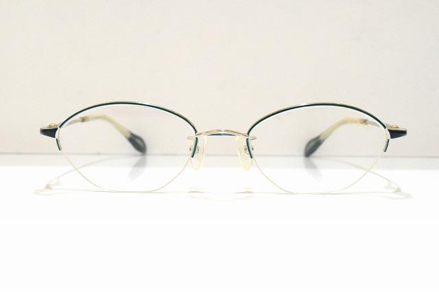 PaSaPaS(パサパ)2011 col.W/GNヴィンテージメガネフレーム新品めがね眼鏡サングラス鯖江手作り婦人レディースブランド