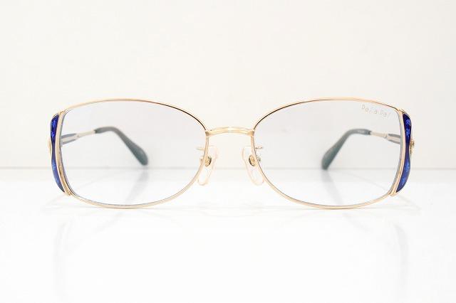 PaSaPaS(パサパ)3003 col.RBLヴィンテージメガネフレーム新品めがね眼鏡サングラス七宝高級ラメレディース婦人女性用