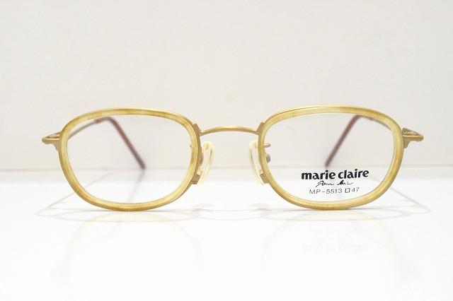 marie claire(マリクレール)MP-5513 col.GM-Yヴィンテージメガネフレーム新品めがね眼鏡サングラス内巻きクラシック
