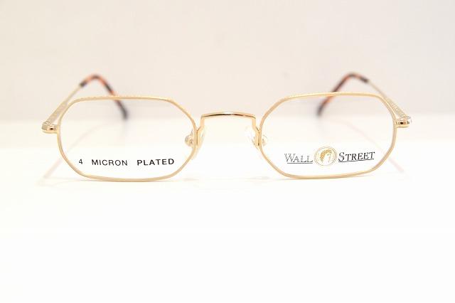 WALL STREET(ウォールストリート)WS-1120 col.1ヴィンテージメガネフレーム新品めがね眼鏡サングラス彫金クラシック