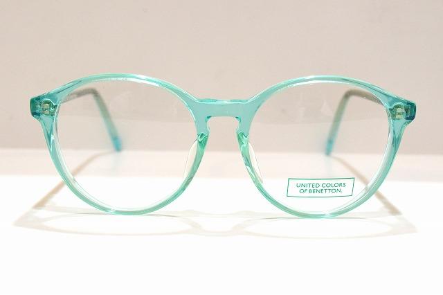 UNITED COLORS OF BENETTON(ベネトン)604 col.5Tヴィンテージメガネフレーム新品めがね眼鏡サングラスペパーミント