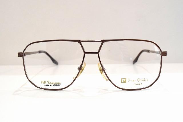 pierre cardin(ピエールカルダン)7030 col.BRヴィンテージメガネフレーム新品めがね眼鏡サングラスティアドロップ