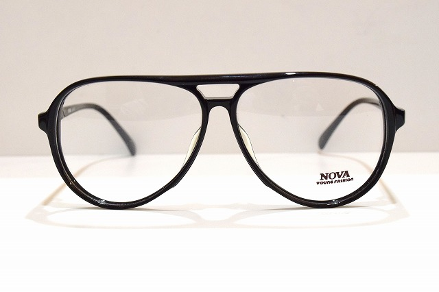 NOVA(ノバ)SPORTS クロヴィンテージメガネフレーム新品めがね眼鏡サングラスティアドロップセルロイドメンズレディースブランド