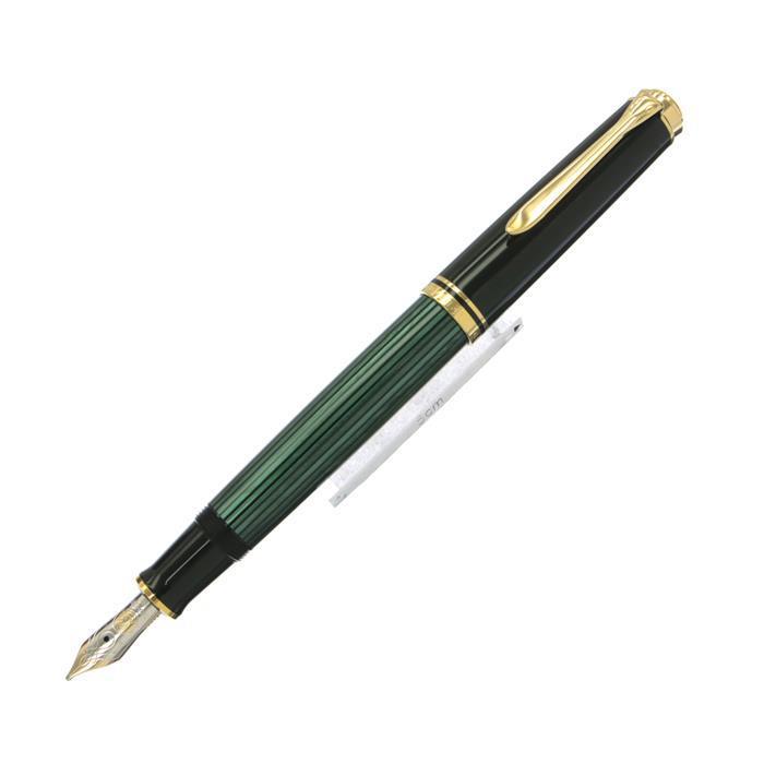 【送料無料】 Pelikan ペリカン 万年筆 スーベレーン M600 緑縞 【正規品】