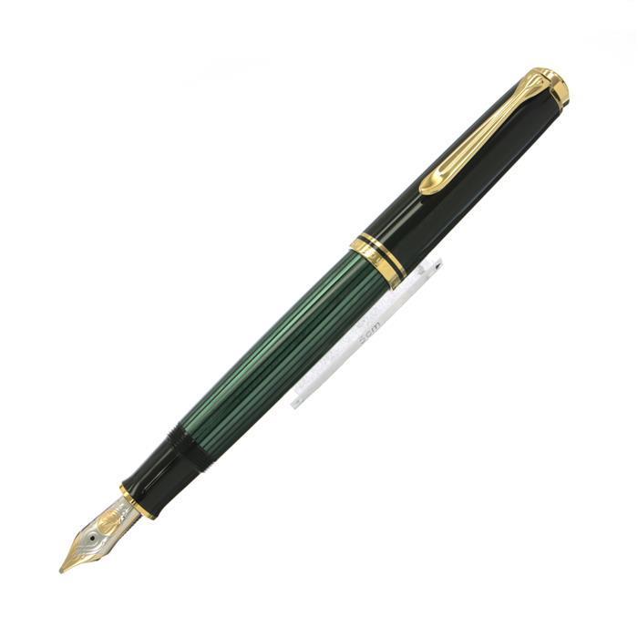 【1/21までポイント10倍】【送料無料】 Pelikan ペリカン 万年筆 スーベレーン M800 緑縞 【正規品】