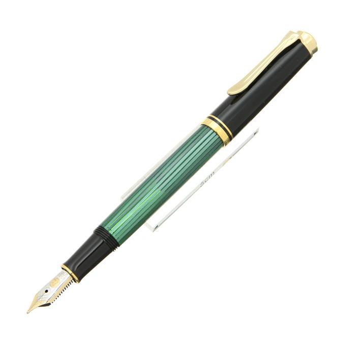 【7/30までポイント10倍】【送料無料】 Pelikan ペリカン 万年筆 スーベレーン M300 緑縞 【正規品】