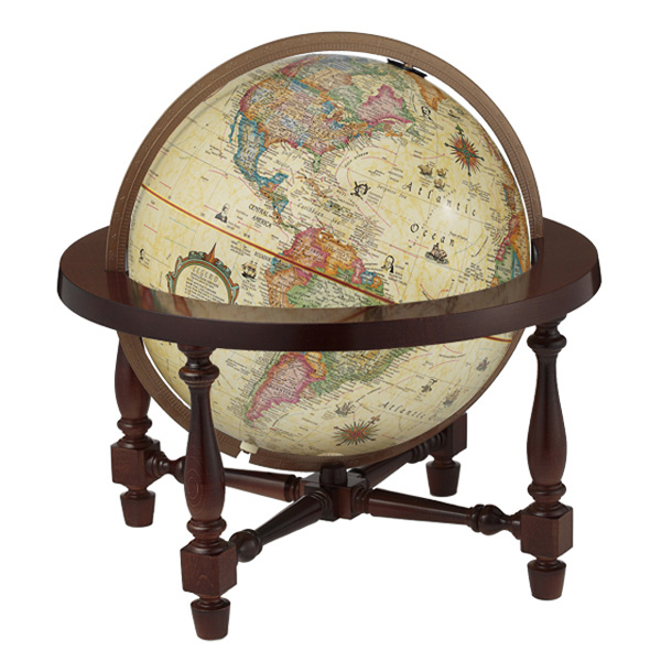 【送料無料】 Replogle リプルーグル 地球儀 ジェームス・ウイルソン型 英語版 アンティーク 【正規品】