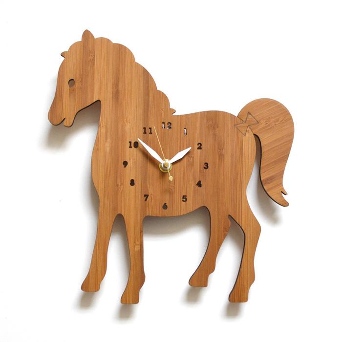 【送料無料】 DECOYLAB デコイラボ 掛け時計 HORSE(ウマ) 【正規品】