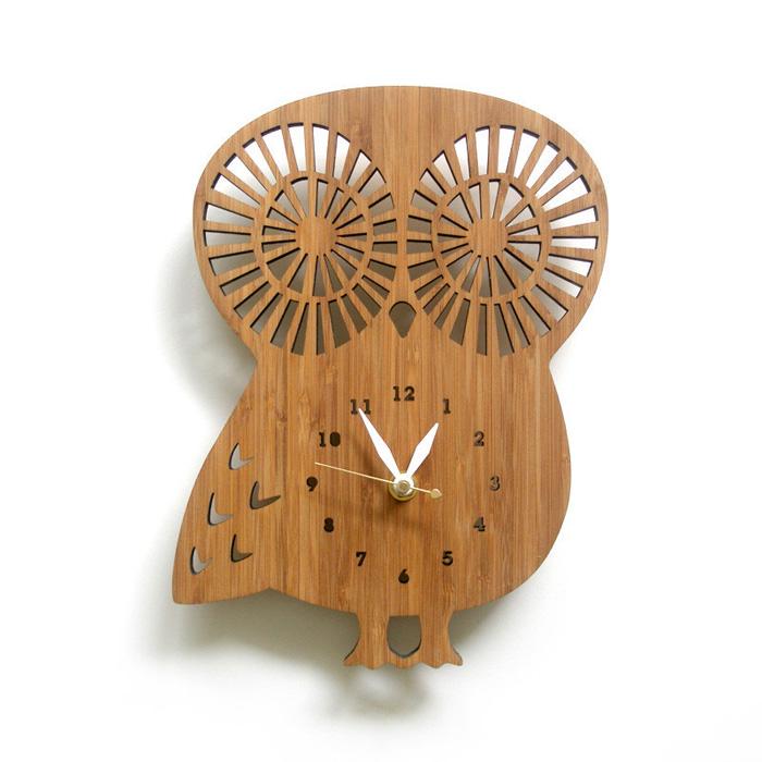 【送料無料】 DECOYLAB デコイラボ 掛け時計 Owl-L(フクロウL) 【正規品】