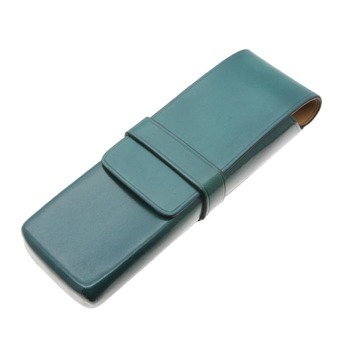 【送料無料】 IL Bussetto イル・ブセット ペンケース 2本用 ライトターコイズ 【正規品】