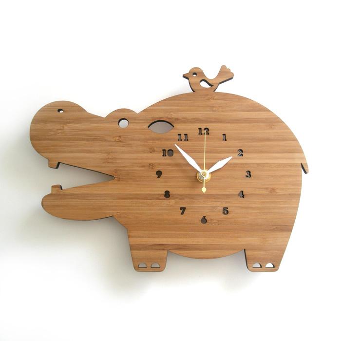 【送料無料】 DECOYLAB デコイラボ 掛け時計 HIPPO(カバ) 【正規品】
