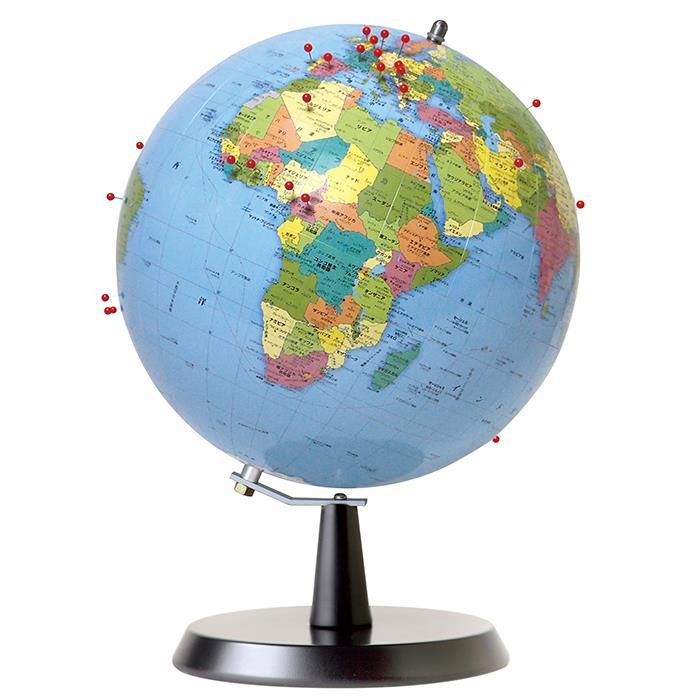 【ポイント5倍】【送料無料】 WATANABE 渡辺教具製作所 地球儀 ピンマーク 行政タイプ (No.2402) 【正規品】【smtb-f】
