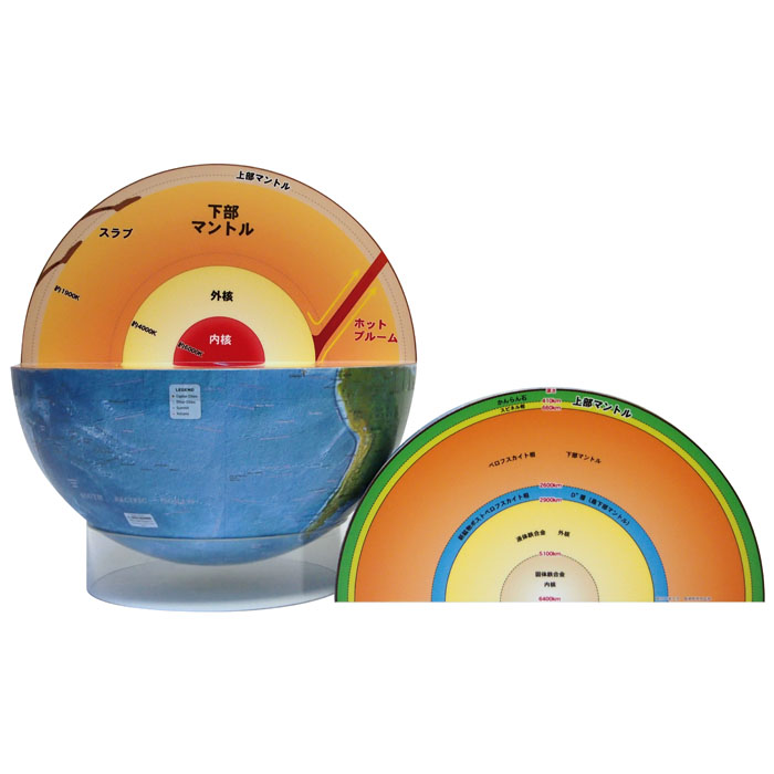 【送料無料】 WATANABE 渡辺教具製作所 地球儀 内部構造地球儀 (No.3061) 【正規品】