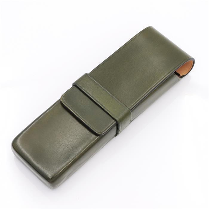 【送料無料】 IL Bussetto イル・ブセット ペンケース 2本用 グリーン 【正規品】
