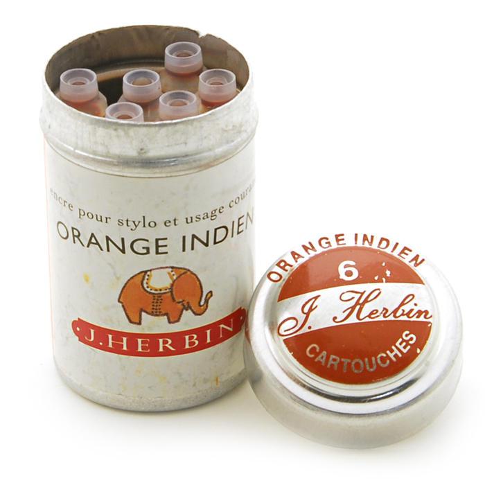【万年筆 インク】 J.HERBIN エルバン カートリッジインク HB20157 インディアンオレンジ 【正規品】
